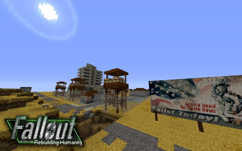 Скачать карту Fallout City для Minecraft